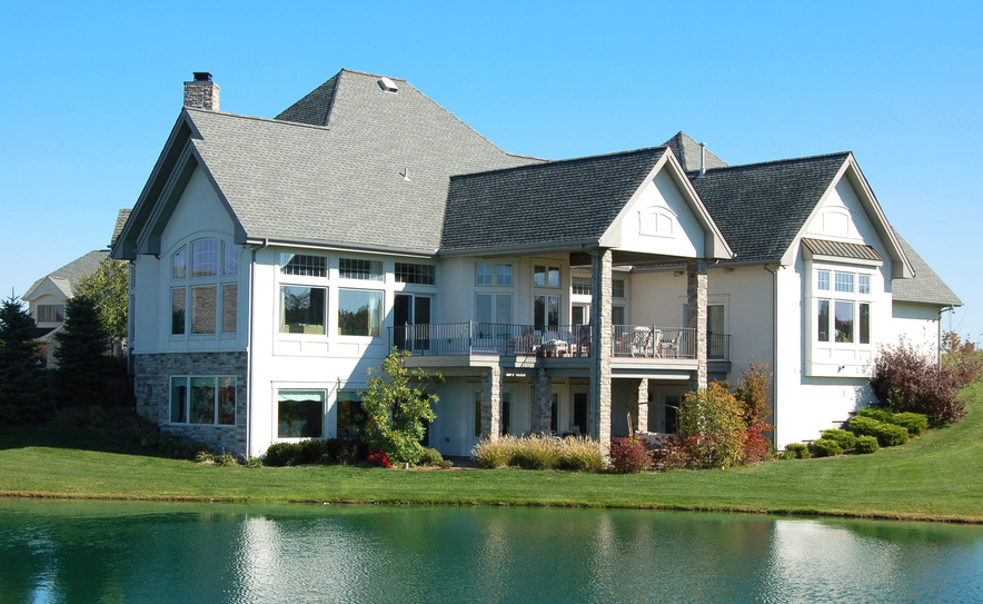 luxury house by the lake