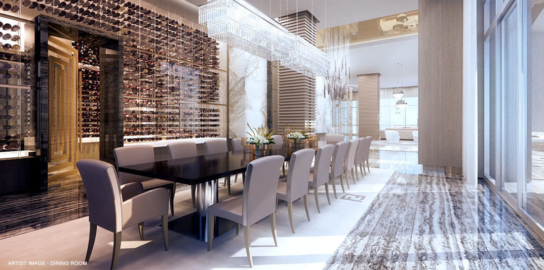 penthouse Acqualina dining