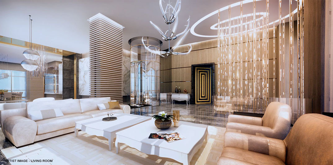 penthouse Acqualina living
